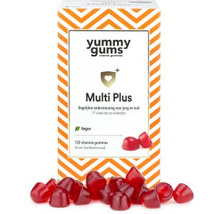 Yummygums - Multi Plus vegan multivitamine + Extra B12, & D3 - 120 gummies ook geschikt als kindervitamine