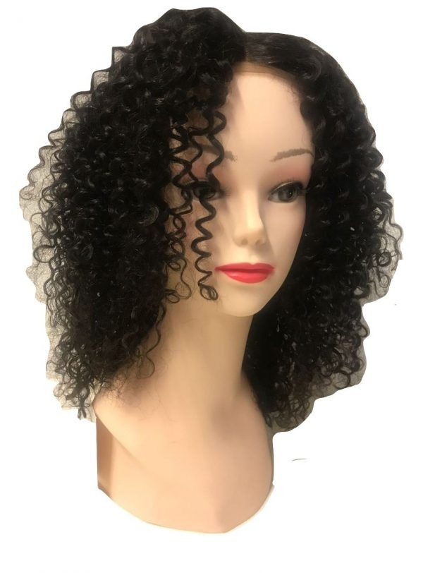 Double F Cosmetics 100% Human Hair Lace Front Wig Kinky Curly 40cm