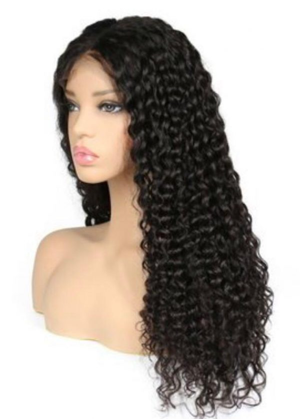 """Double F Cosmetics 100% Human Hair Lace Front Wig Kinky Curly Wave 75cm - 30"""""""